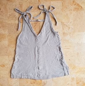 Lucky Brand Stripes Vneck Bows Tank Top